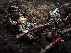Bloodshed (Brick Operator) Tags: lego brickarms bricks soldiers ww2 ww11 wehrmacht german germany war army blood intense gloomy dark battle slickbricks toys action figures minifig minifigs minifigures wild wilderness gun
