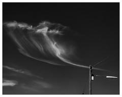 Smoking (AEChown) Tags: minimalism minimalist cloud wisp whiff white black blackandwhite blacksky sky smoking