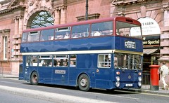 South Notts, Gotham: 115 (HNN115V) in Nottingham on route 67 to the Clifton Estate (Mega Anorak) Tags: bus leyland fleetline fe30alr northerncounties southnotts gotham nottingham cliftonestate