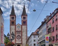 Dom in Würzburg mit Hauptstraße (Migathgi) Tags: 2018 franken würzburg migathgi 2009