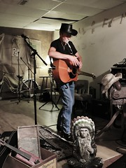 Outpost (maj488/mike) Tags: cowboyhat guitar gig country countrymusic coffeehouse venue midnightcowboy