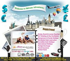 shivam (Shivam Adventures) Tags: shivamadventures cruise eurail luxurycoaches airticketing visafacilitation honeymoonholidays familyholidays hotelreservation indiaholidays internationalholidays foreignexchange travelinsurance schooltours delhi
