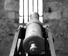 L'armement au Fort Libéria - Armament at Fort Liberia (vieux rêveur) Tags: noiretblanc nb bw noir black negro blanc blanco white bokeh canon pierre rock mur wall ancien old vieux france