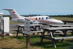 N117EA (goweravig) Tags: n117ea visiting aircraft swansea wales uk swanseaairport eclipseaviation eclipse 500ea