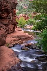 The Winding Creek (jackielynn831) Tags: d7200 nikon 1680 trees creek water longexposure redrocks sedona arizona