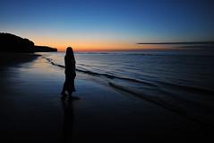 Gazing in the twilight (jeangrgoire_marin) Tags: twilight evening sea water sand gazing romantic zen normandy normandie