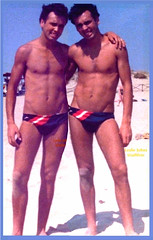 Leslie_twins_wallpaper. (TheShadow1) Tags: twins swim speedo boys boy man men gay naked triathlete triathlon shirtless erotic trunks swimming diving