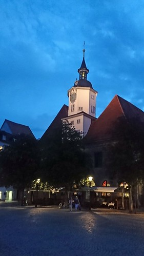 Town Hall, Jena, by night
