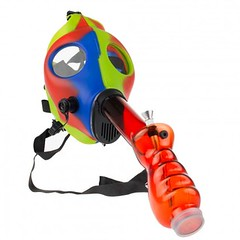 Silicone Gas Mask Bong with Acrylic Tube | Green Blue Red (kmobocunib1970) Tags: acrylic blue bong gas green mask red silicone tube