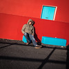 Hip To Be Square (Siobhán Bermingham) Tags: asleep clare blue shades sunglasses ireland outdoor lahinch street man red