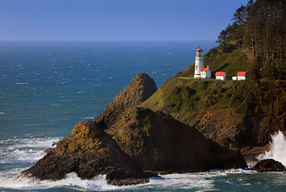 Evening Light At Heceta Head