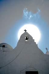 Chapel by the Aegean Sea (valerie.toalson) Tags: greece sun mykonos