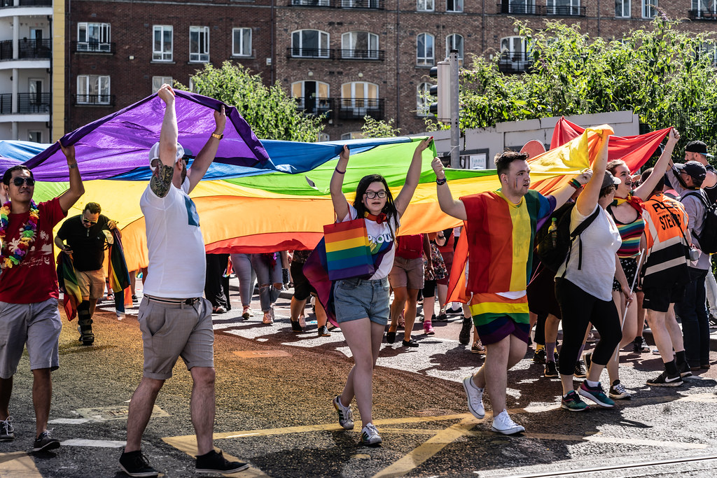 ABOUT SIXTY THOUSAND TOOK PART IN THE DUBLIN LGBTI+ PARADE TODAY[ SATURDAY 30 JUNE 2018] X-100041