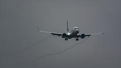 Westjet MAX Vortices (Ben_Senior) Tags: ottawamcdonaldcartierairport ottawainternationalairport ottawaairport yow cyow ottawa ontario canada airplane plane airliner airline aircraft aviation landing approach final finalapproach shortfinal boeing narrowbody 737 b737 jet westjet wj wja cfnax 38m b38m b737max8 737max 737max8 cfmleap leap1b vortice vortices aerodynamiccontrail cloud grey clouds sky planespotting bensenior nikond7100 nikon d7100