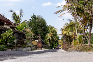 Just a balinese street on the West of island. Bali.