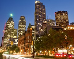 Flatiron 5 (Toronto_hardhat) Tags: gooderhambuilding flatiron nikon nikond7100 toronto nightcarlights streetlights frontstreet churchstreet skyscraper downtown night