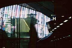 no title (biancarosa.looman) Tags: analog handheld busstation arnhem singleexposure lines canon kodakfilm