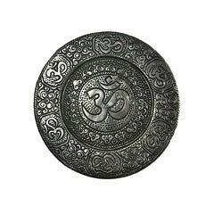 OM & HSoS! (☁☂It's Raining, It's Pouring☂☁) Tags: smileonsaturday luckycharm symbolism hindu silver round lightbox hsos happysmileonsaturday