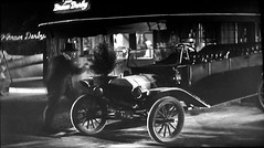 Brown Derby restaurant - film What Price Hollywood? 5510 (Brechtbug) Tags: constance bennett lowell sherman 1932 film what price hollywood standing front brown derby restaurant screen grab screengrab movie scene la los angeles ca california