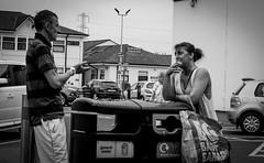 2018_201 (Chilanga Cement) Tags: fuji fujix100f fujifilm xseries x100f 100f street streetphotography candid smoking smoke conversation talking bw blackandwhite monochrome lady man couple