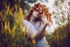 Burnin' (Gnome invisible) Tags: canon canon50mmf12 f12 modèle fashion redhead wideopen photoshoot mood l