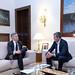 Clavijo se reúne con el ministro del Interior, Grande-Marlaska