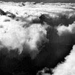 Flying Just Above a Sea of Clouds (Black & White) thumbnail