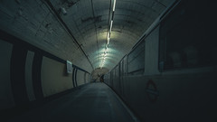 G H O S T I N G . II (Panda1339) Tags: londonunderground tubestation abandoned london aldwych tunnel architecture hidden uk light 14mm cinematic