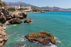 Mediterranean Coast, Nerja, Spain (LiamHird) Tags: mediterraneancoast nerja spain travel holiday sun summer hot sea water ocean rocks waves sand beach