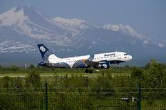 Aurora Airlines Airbus A319 VQ-BWV, flare (Zhuravlev Nikita) Tags: spotting elizovo kamchatka uhpp aurora airbus 319 a319