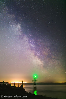 Milky Way with lighthouse