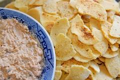 Cassava bread and salmon (*Amanda Richards) Tags: edible food treats birthday party menu cassava cassavabread salmon dip