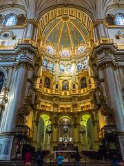 Chancel and Dome in the Apse of the Cathedral of Granada (ctj71081) Tags: apse catedraldegranada cathedral cathedralofgranada church granada santaiglesiacatedralmetropolitanadelaencarnacióndegranada spain