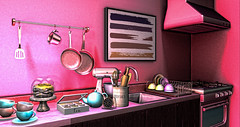 Its Tea Time O`Clock (RyanTailor (Taking Clients)) Tags: tea arcorn whatnext kitchen cake applefall bakery bake fancydecor mudskin fameshed go event monthly deco decorate decoration furniture inworld secondlife