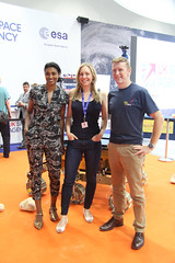 ESA astronaut Tim Peake, with Suzie Imber and Dr Shini Somara during #FuturesDay (europeanspaceagency) Tags: fia18 fia2018 farnborough farnboroughairshow farnboroughinternationalairshow esa europeanspaceagency space universe cosmos spacescience science spacetechnology tech technology uk timpeake astronaut astronauts drshinisomara suzieimber
