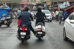 one is pushing other on mobile (joegoauk73) Tags: joegoauk goa