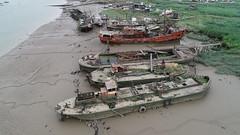 DJI_0354 (Duncan Mackway-Jones) Tags: aerial dji phantom boat decay abandoned derelict erith thames marina barge flooded urban