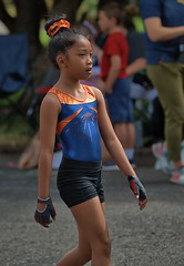Gymnast On Parade (Scott 97006) Tags: girl acrobatic gymnast parade costume fit talent cute