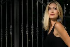 am Zaun (Suissecoach) Tags: fishnet portrait streetparade tfp beauty blond body mate model net outdoor shooting