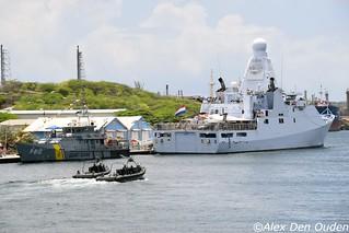 Coastguard Jaguar P-810 And Royal Dutch Navy  Friesland P-842
