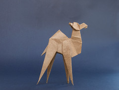 Asymmetric Camel (bodorigami) Tags: camel kamel assymetrisch asymmetric origami simple desert blue brown