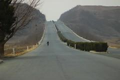 Highway in the countryside, North Korea (argilaga) Tags: north korea northkorea dprk kimilsung socialism communism travelling 135mm