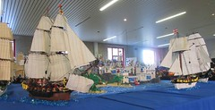 IMG_5584 (sebeus) Tags: lego brickmania wetteren 2018 exhibition pirate layout island ship sea ocean fort beach port harbor town