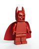 Dark red Batman (Vanjey_Lego) Tags: lego minifig minifigs minifigure minifigures batman superheroes dccomics dccomic monochrome darkred