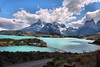 Beautiful lake with mountains and snow in Patagonia (jillrowlandwv) Tags: cave travel patagonia argentina chile southamerica tour tourist tourism outdoors hiking mountain wildlife penguins birds sea lake water reflection glacier scenery landscape nature naturalbeauty natural canon canonphotography canonaddicts canonphoto canonphotos meadow
