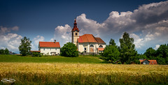 The ChapelJune 10, 2018.jpg (outlaw.photography) Tags: building church nature rural clouds religion trees slovenia june2018 outlawphotography light europe062018 chrisdaugherty sky photography landscape architecture infinityimages field