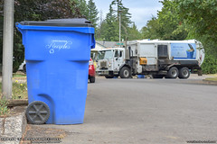Vancouver Recycles! (Thrash 'N' Trash Prodcutions) Tags: garbage trash refuse truck recycle recycling trucks labrie expert helpinghand dropframe automated side load loader asl glasscompartment peterbilt 320 rhd righthanddrive rubbish sanitation disposal waste collection vehicle wasteconnections vancouver washington curbside bin container cart can dumpster rehrig blue trashmonkey22 thrashntrashproductions