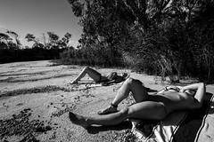 naked girls @ tea tree lake (MlleJeanne) Tags: byron bay friends beach holiday sun sunset photography fun australia tea tree lake sand girls boys french frenchies