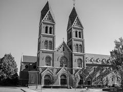 St Mary's Catholic Church (Shawn Blanchard) Tags: st marys catholic church black bw blackandwhite white sky tree window north dakota midwest building architecture design