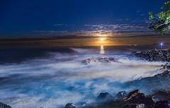 IMG_4963 (Greg Meyer MD(H)) Tags: moon longexposure ocean hawaii night wave calm mystical peace blue landscape ngc